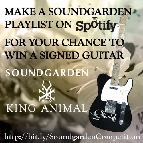 comunidadsoundgardenchile:  ¡Soundgarden regala guitarra autografiada!http://bit.ly/S4RgE3 https://www.facebook.com/SoundgardenChile
