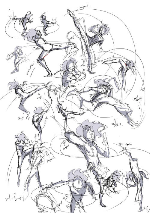elleoser:  Drew some action sketches as a warm-up. Sadly, comic work was a little slow, but better than nothing!  Moira being Moira. :)