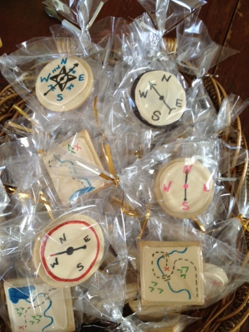 Sweet provisions for brave expeditioners! Explorer cookies for The Expeditioners and the Treasure of Drowned Man's Canyon launch party today. 2-4 p.m. at The Norwich Bookstore.
