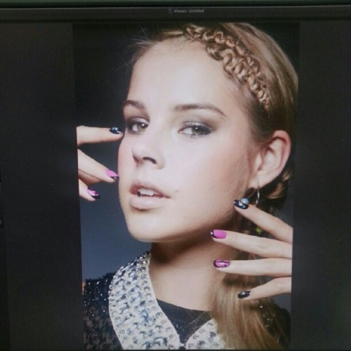 #behindthescenes @seventeenmag Dec issue shot by @peter_rosa #nails #nailart