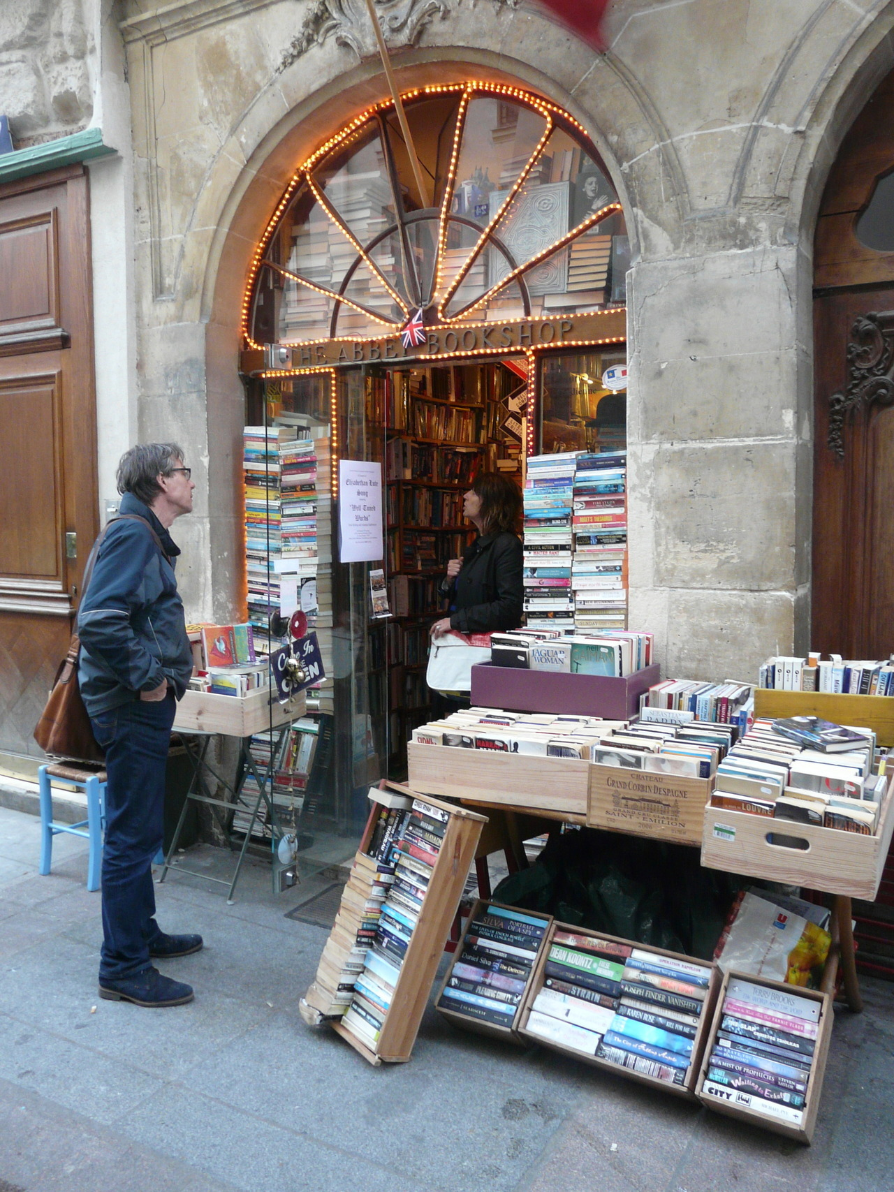 A really cool bookshop in Paris.