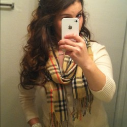 Curly hair, cashmere kind of day.