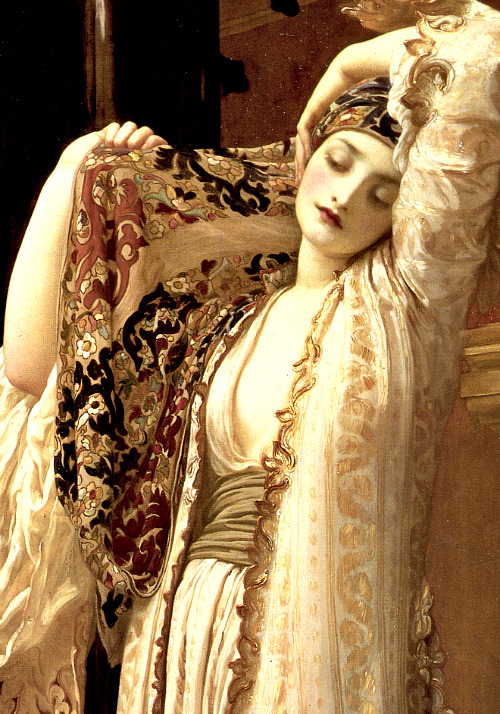 Detail from Frederic Lord Leighton's Light of the Harem, 1880