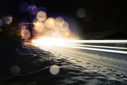 snow winter lights landscape night bokeh