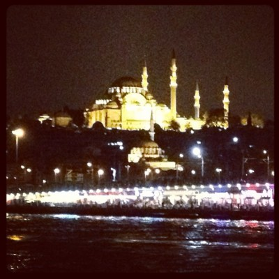Süleymaniye Mosque at night (at Süleymaniye Camii)
