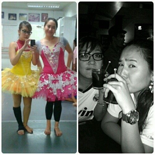 Ballet costume fitting then rhum coke… again :)) with @nerissakristal #balletstagram #ballerina #ballet #tutu #dancer #instagram #dance