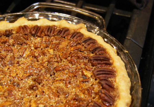 Chocolate chip pecan pie, 11.16.12 Lesson: Never tell me you're buying a grocery store pie for an event.