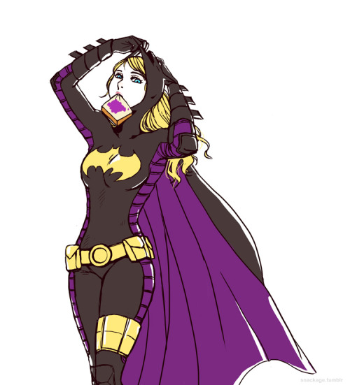 gabzilla-z:  snackage:  sakilya requested Stephanie Brown. Did this one first because it's simple and I've been meaning to draw Steph for a while. Wasn't sure if you meant masked or not so it's half-half :p. Hope you like it!  *_*