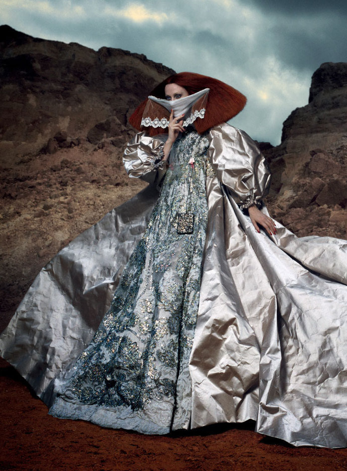 Karen Elson in Christian Lacroix A/W 2008 by Danielle & Iango for i-D, fall 2012