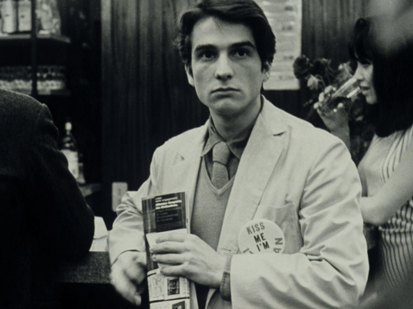 Jean-Pierre Léaud (and Anna Karina at the back) on the set of Made in U.S.A.