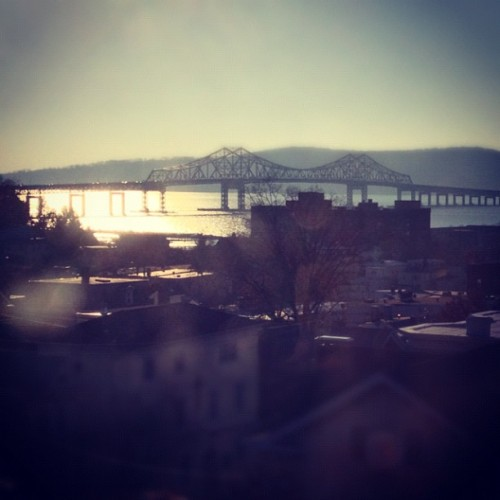 The Tappan Zee Bridge, as seen from Warner Library, Tarrytown. #bridges #hudsonriver #hudsonvalley #vistas