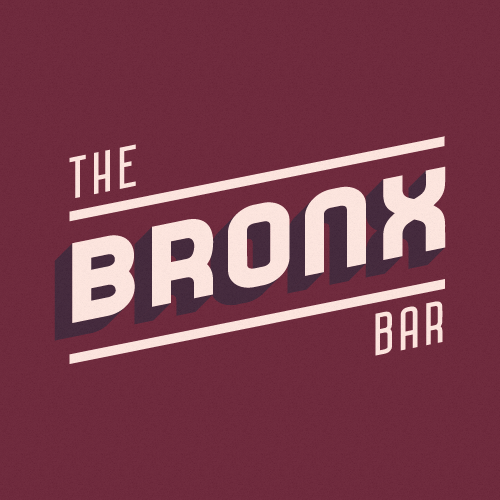The Bronx Bar in Midtown. Featuring Bar Sans Pro Mixed Sober and Highball Sober.