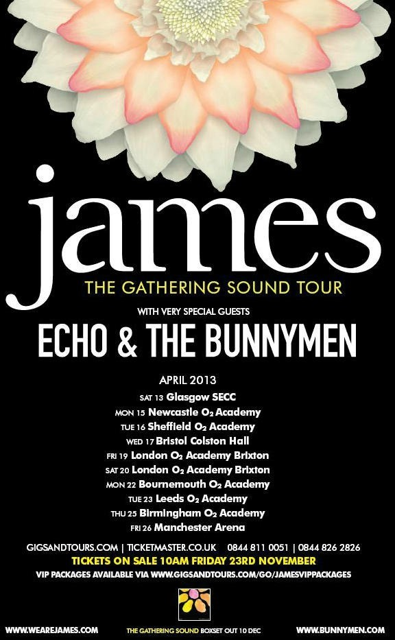James enlists Echo & The Bunnymen for U.K. tour in support of 'Gathering Sound' box set | TOUR DATES