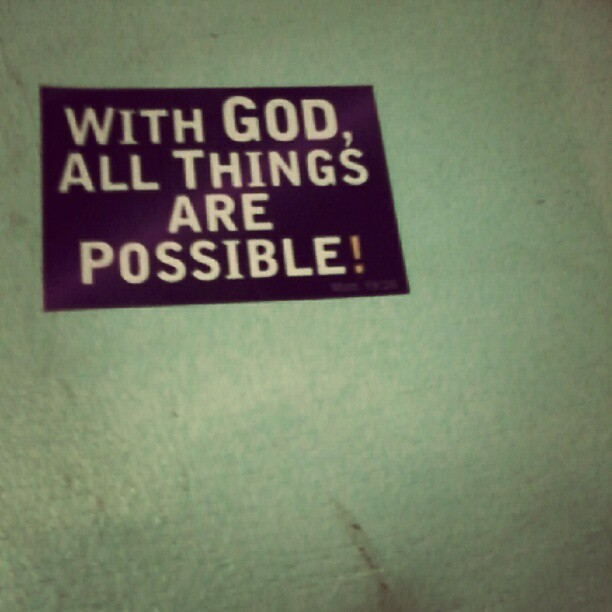 With GOD all things are possible. Great sunday morning!! :)) #god #morning #sunday