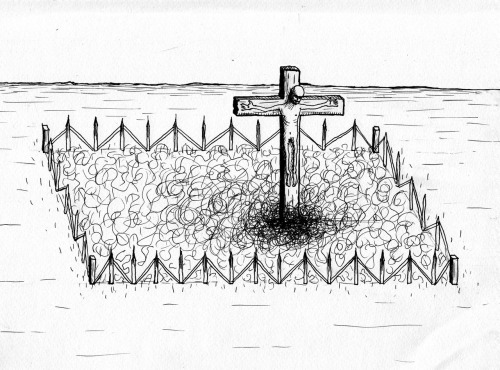 doki66:  Crucifixion In The Pube Garden