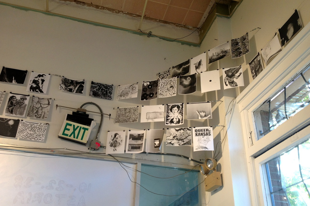 "1. Photocopies I made today. 2. The Lab: an art gallery in the Mission, San Francisco on 16th between Mission and S. Van ness. There is a really good empanada place below it. Sometimes they have concerts. One time I reviewed a show there.  3. 10.-22.-38 Astoria exhibition is going on right now. In fact, the closing party is tonight (Saturday, November 17th, 6 - 8 PM) - thus you should cancel all your early evening plans and head on down there so you can get your xerography on.  4.  See, they have some copy machines on site and you can copy anything in the exhibit. I just went and made a series out of one of the pieces I had in the show.  5., 6., 7., 8. This is called xerox art. There's Timothy Furstnau (member of Fictilis) making some copies. 9. The final series. I call it ""Stephanie, disturbed""."