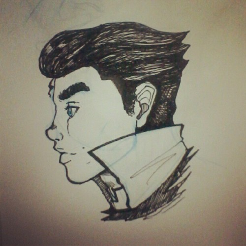 Bolin from The Legend of Korra #lok #legendofkorra #fanart #bolin #myart #ink #sketch