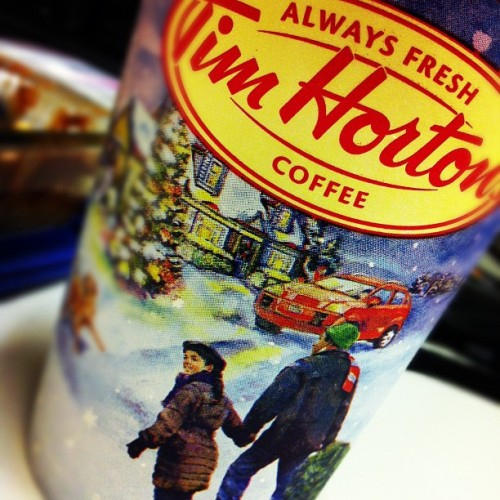 Xmasss at Tims #timhortans #drink #coffee #christmas #pretty #festive #tistheseason #work #breakfast #chilling #warm #yummy #instagood