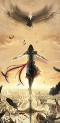 fu11metal:  ..Ezio:Into the sky:… by ~DeadlyNinja