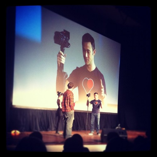 Such a fun evening with @hitrecordjoe #hitrecordontheroad
