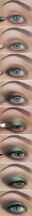 Green and Gold Eye Shadow