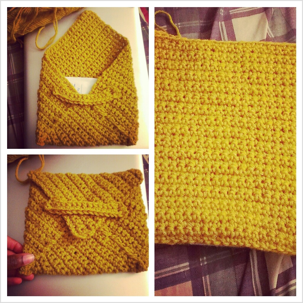 I Crocheted an Envelope tonight. Fun way to deliver my Xmas cards this year!