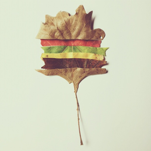 acehotel:  Happy autumn, courtesy of Brock Davis and his cheeseburger tree.