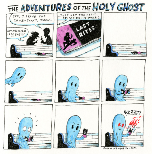 adventuresoftheholyghost:  Episode 3: Tracts.