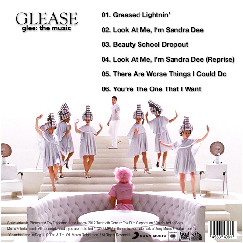 Glee: The Music, Glease Alternative Album Back Cover