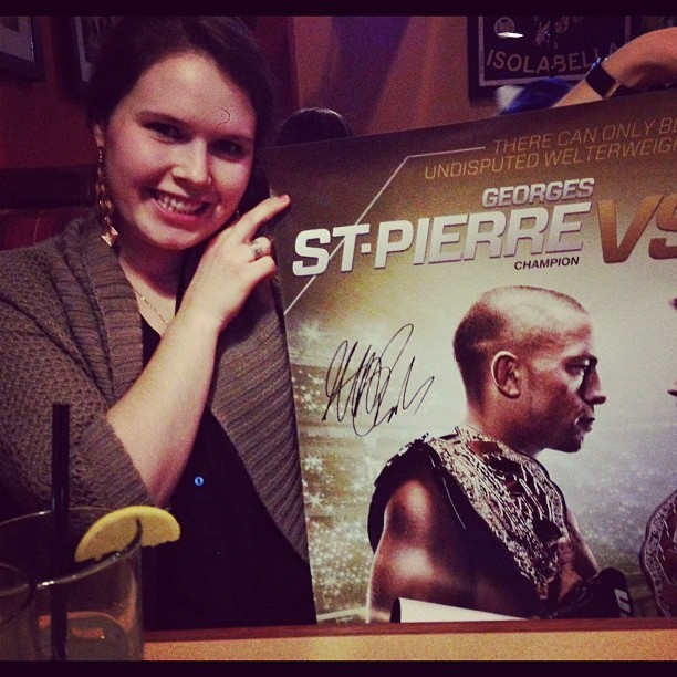 Sweet, the girlfriend just won an autographed UFC poster.