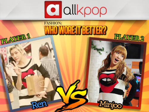 Who Wore it Better: Ren vs. Minjoo Get over to allkpop, vote, and let us know—who wore it better?