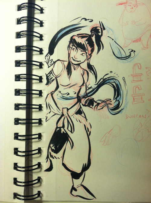 lisaveeee:  practicing with a new brush pen. so here's some korra.