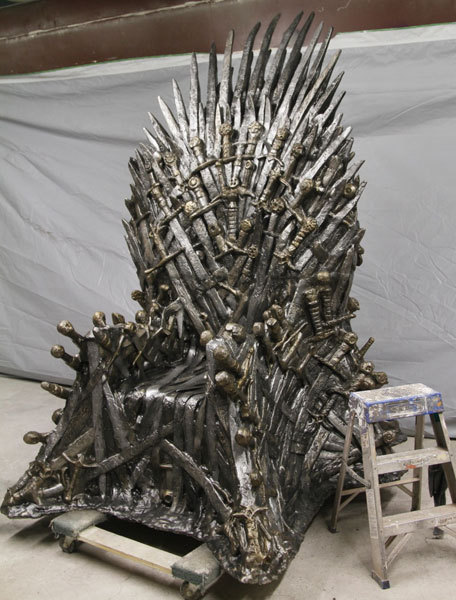 junebugjive:  You can have your very own life-sized Iron Throne from Game of Thrones… for only $30,000 via ThinkGeek.
