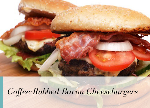 ... you Coffee-Rubbed Cheeseburgers with Bacon and Texas Barbecue Sauce