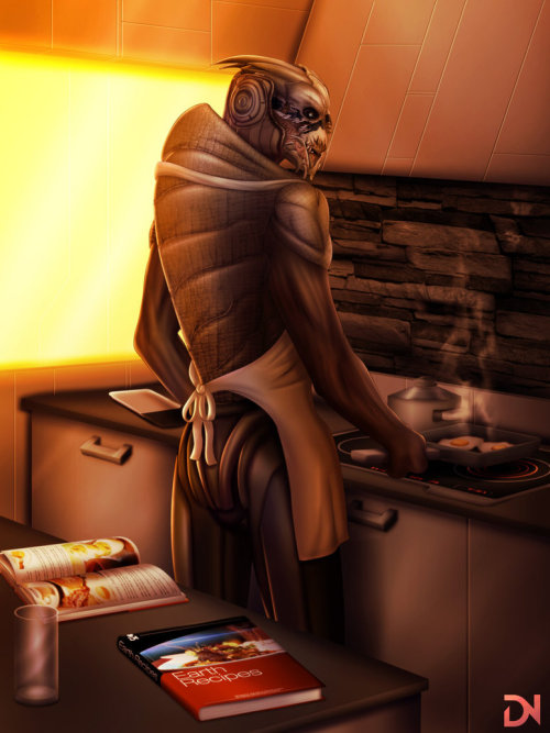 quillaby:  Turian Breakfast by dream-and-nightmare