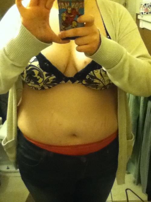 chubby-bunnies:  19 years old. US size 19. This is my tummy. It has stretch marks, derma and self harm scars. But I like it. I'm starting to like it. I am becoming more and more loving to my body each day and this is making me healthy. It won't let me set a click through but my blog is mydalekromance.tumblr.com :D  Now that's cute… whatta lovely body…