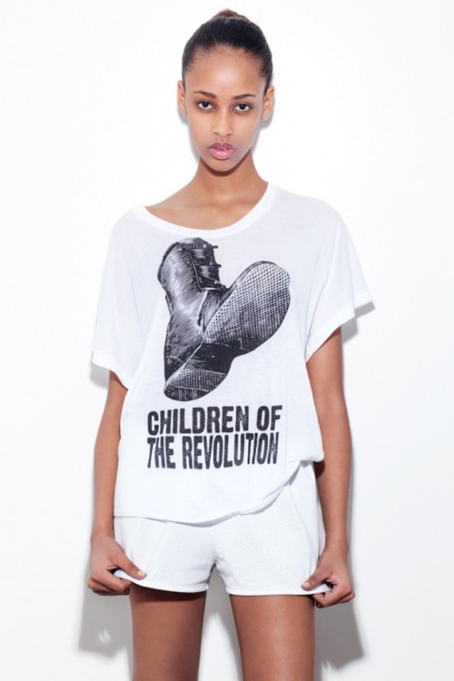 couturebarbbie:  New face Model   We're obsessed with Tees w/Sams message….