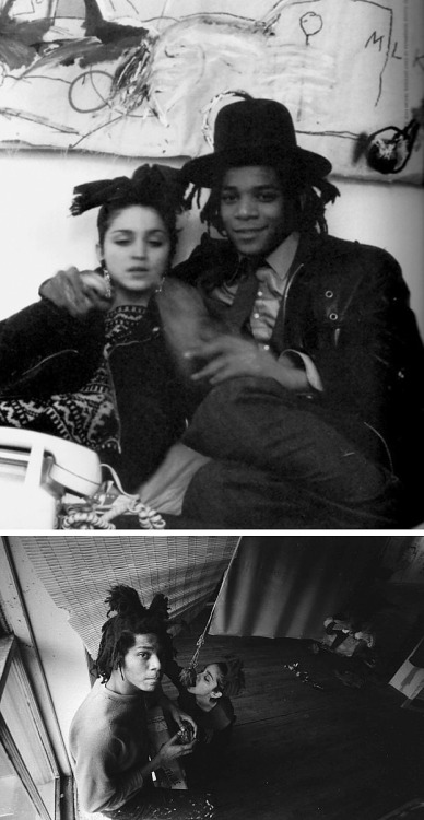 leithomalley:  Madonna and Basquiat