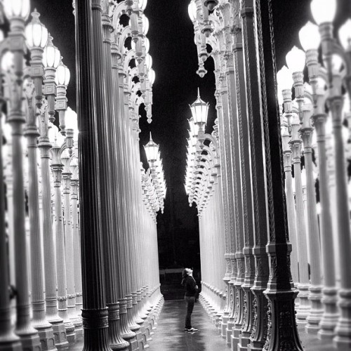 #urban #lights #modern #art #instillation #illuminated  #lacma #los Angeles #la #blackandwhite #beauty #instapic (at Los Angeles County Museum of Art (LACMA))