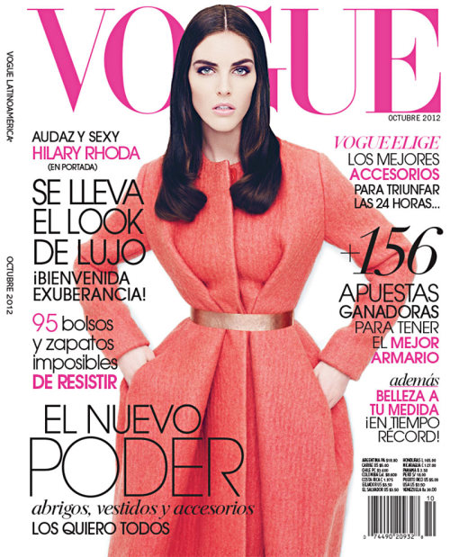 Hilary Rhoda Dons Fall Looks for Vogue Latin America's October Cover Story by Nagi Sakai