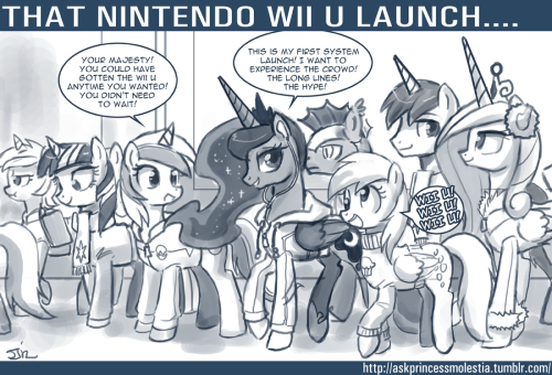 """Expect my take on the new Nintendo Wii U later today!"" ~ Luna"