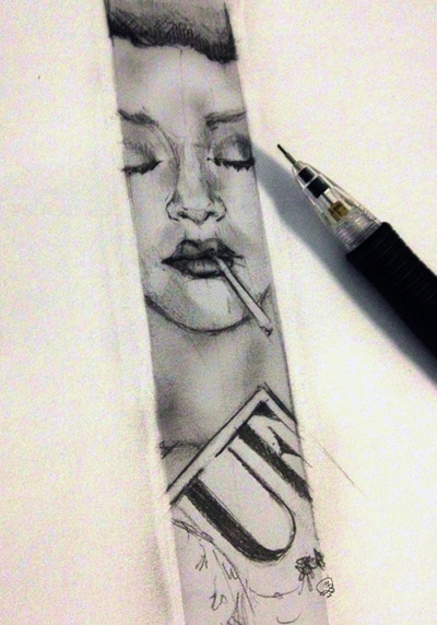 "doodle - rihanna ""…whilst i wait for my friend to arrive at the studio…"""