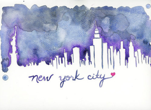 twoheartsbelong:  New York City Skyline Print Hurricane Sandy by TiffanyPelczART on @weheartit.com - http://whrt.it/XoyoWU