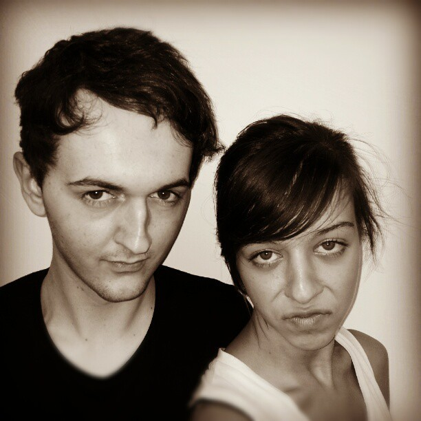 "Just remembered we did our ""sexy headshots"" bahaha. #lovelife"
