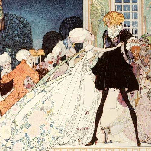 From In Powder and Crinoline : old fairy tales retold. By Arthur Quiller-Couch; illustrated by Kay Nielsen