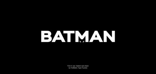 If Batman had a typographic logo