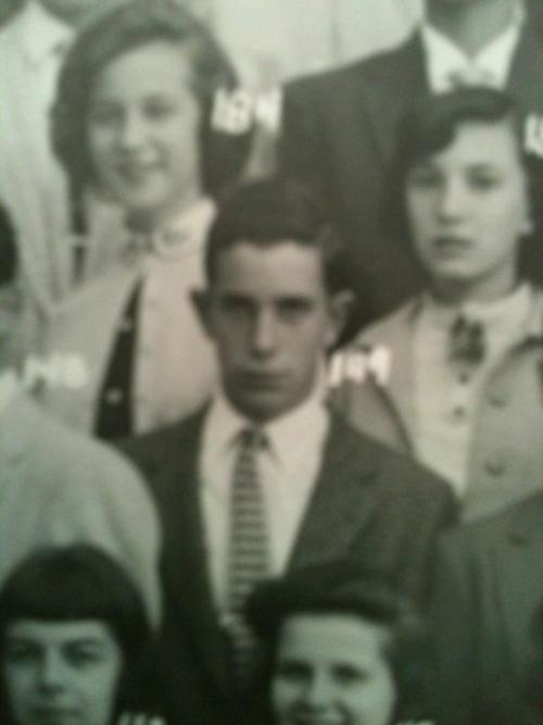 Bob Rodman, a former classmate posted a photo of Michael Bloomberg when he was a student at Hobbs Junior High School, class of 1957, in Medford, MA. More on Bloomberg's fading ties to his home town, here.