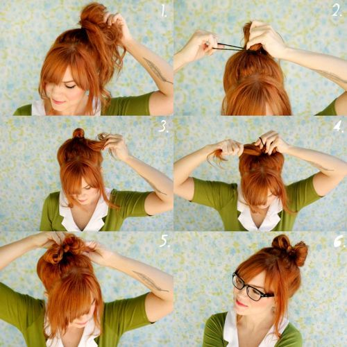 (via How To Style a Hair Bow - A Beautiful Mess)