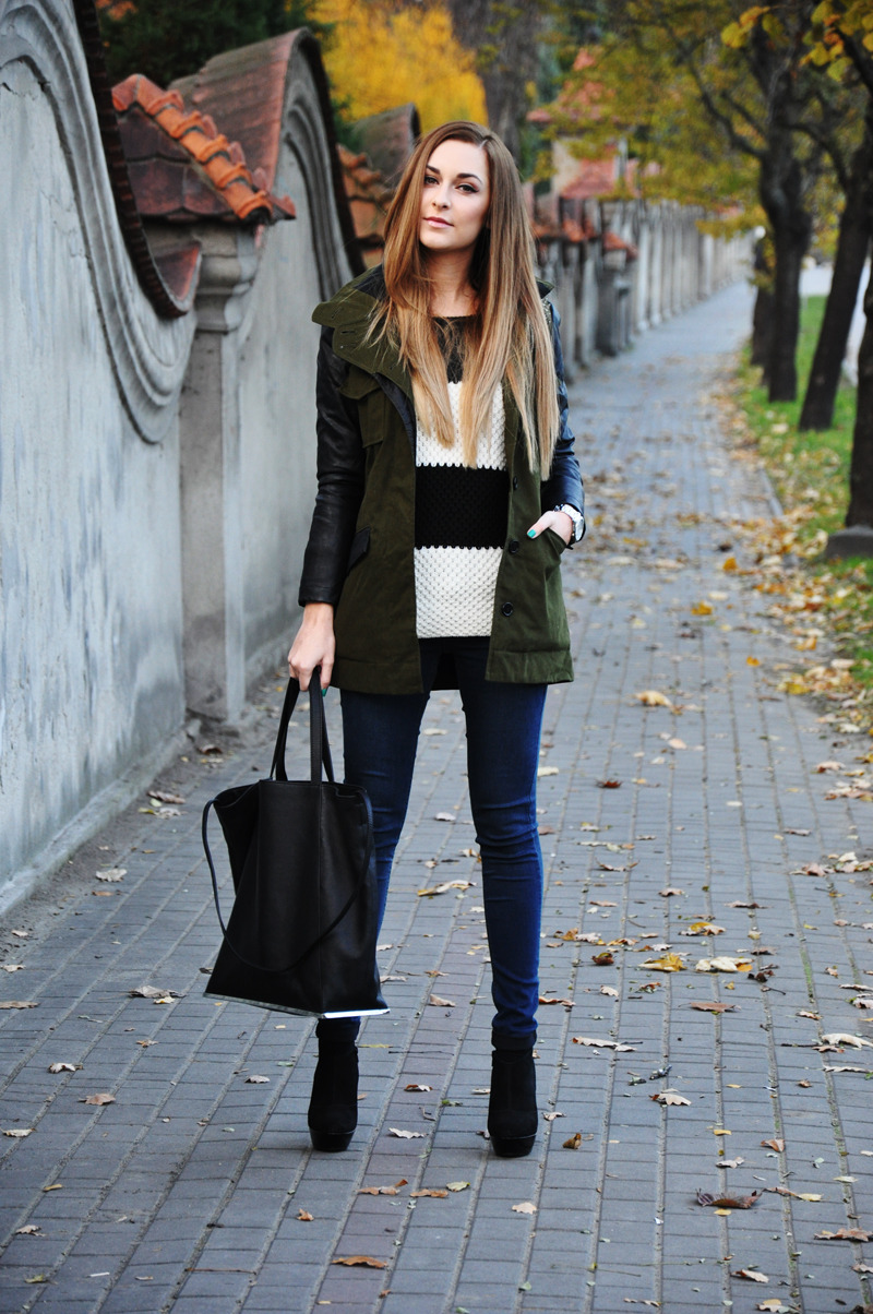 what-do-i-wear:  JACKET - ASOSSWEATER - RESERVEDJEANS, SHOES - TOPSHOPBAG - ZARA WATCH - MORGAN (image: karinainfashionland)