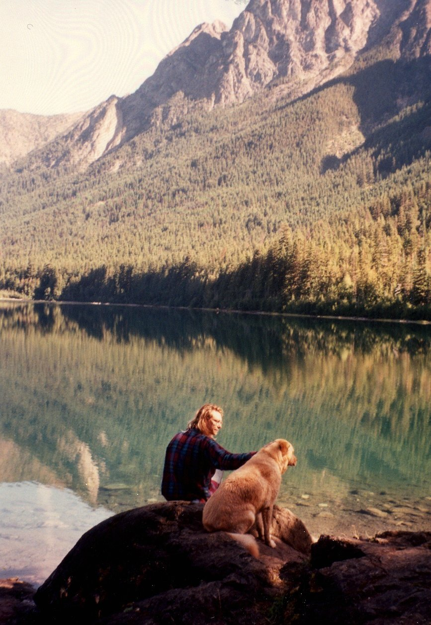 Nosha, Otto, Hozomeen Lake (by nosha)